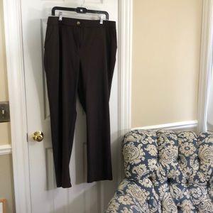 Chico's size 3 (XL) regular brown travel pants